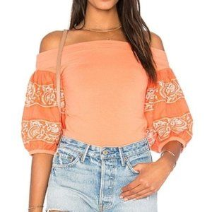 NEW Free People Rock with it top coral boho